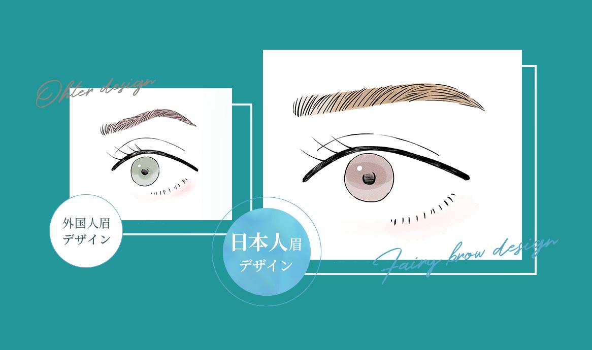 Ohter design/外国人眉 デザイン/Fairy brow design/日本人眉デザイン