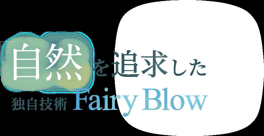 自然を追求した独自技術Fairy Blow